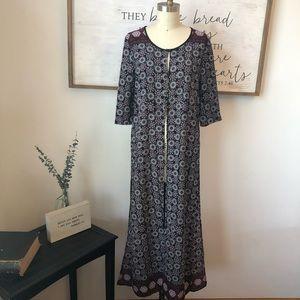 Romeo & Juliet Couture Long Kimono Maxi Duster S